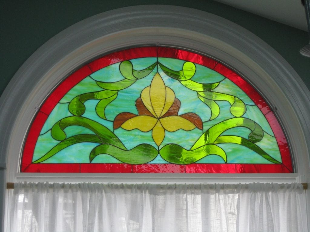 Classic Arched Beautiful Ribbon Victorian Style Window