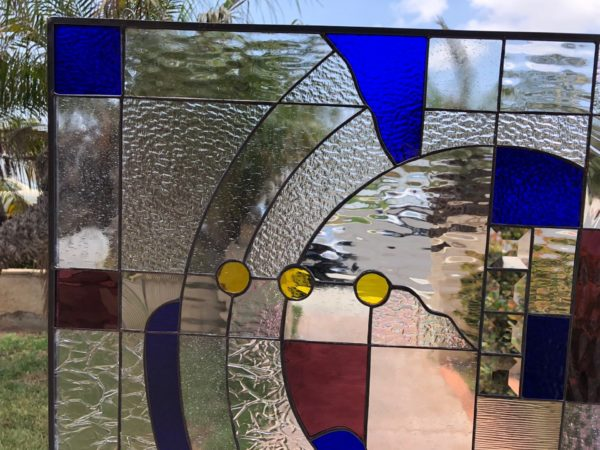 Exquisite! Contemporary Abstract  Stained Glass Window Panel