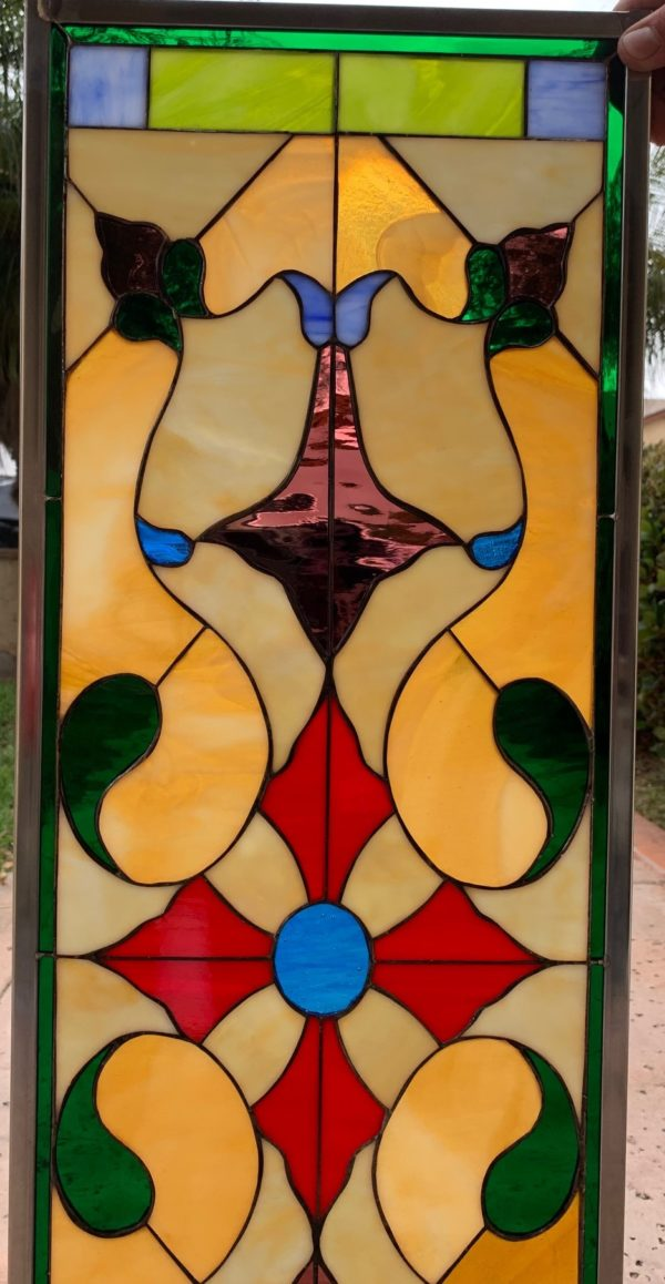 "Classic! The ""Solvang""  Victorian Stained Glass Window Panel"