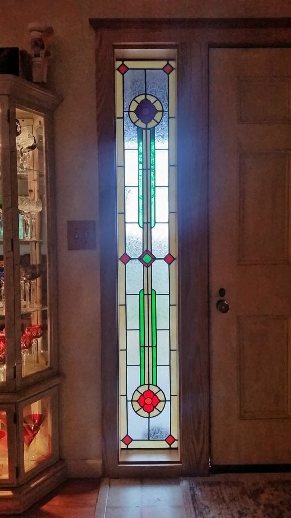 Floor To Ceiling Entryway Classic Stained Glass Window For Light & Beauty