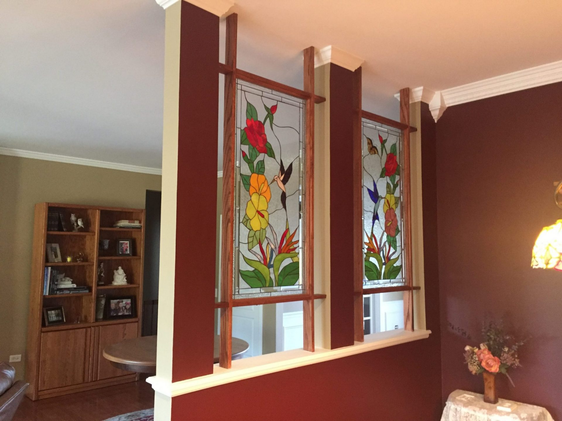 Hummingbird Stained Glass Panels