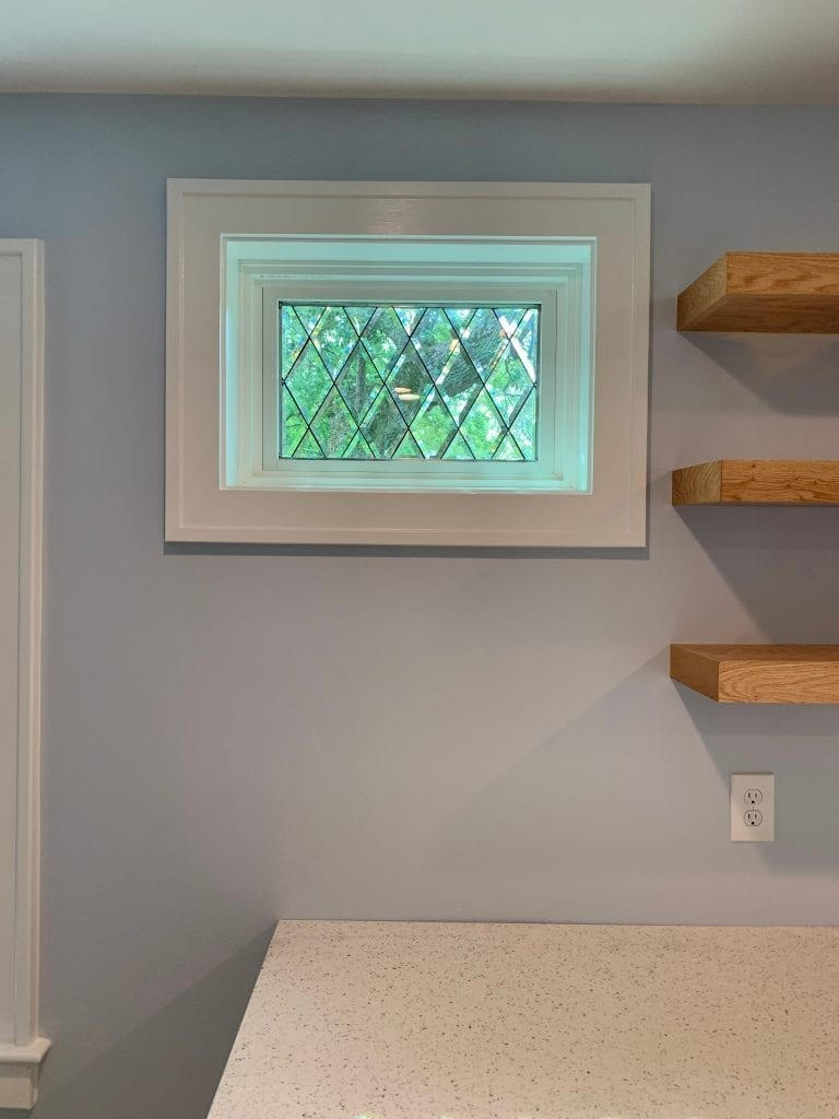 Tudor Style Beveled Diamonds Windows