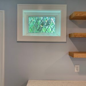 Tudor Style Beveled Diamonds Windows