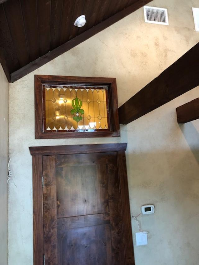 Stained Glass Transom Window Installed