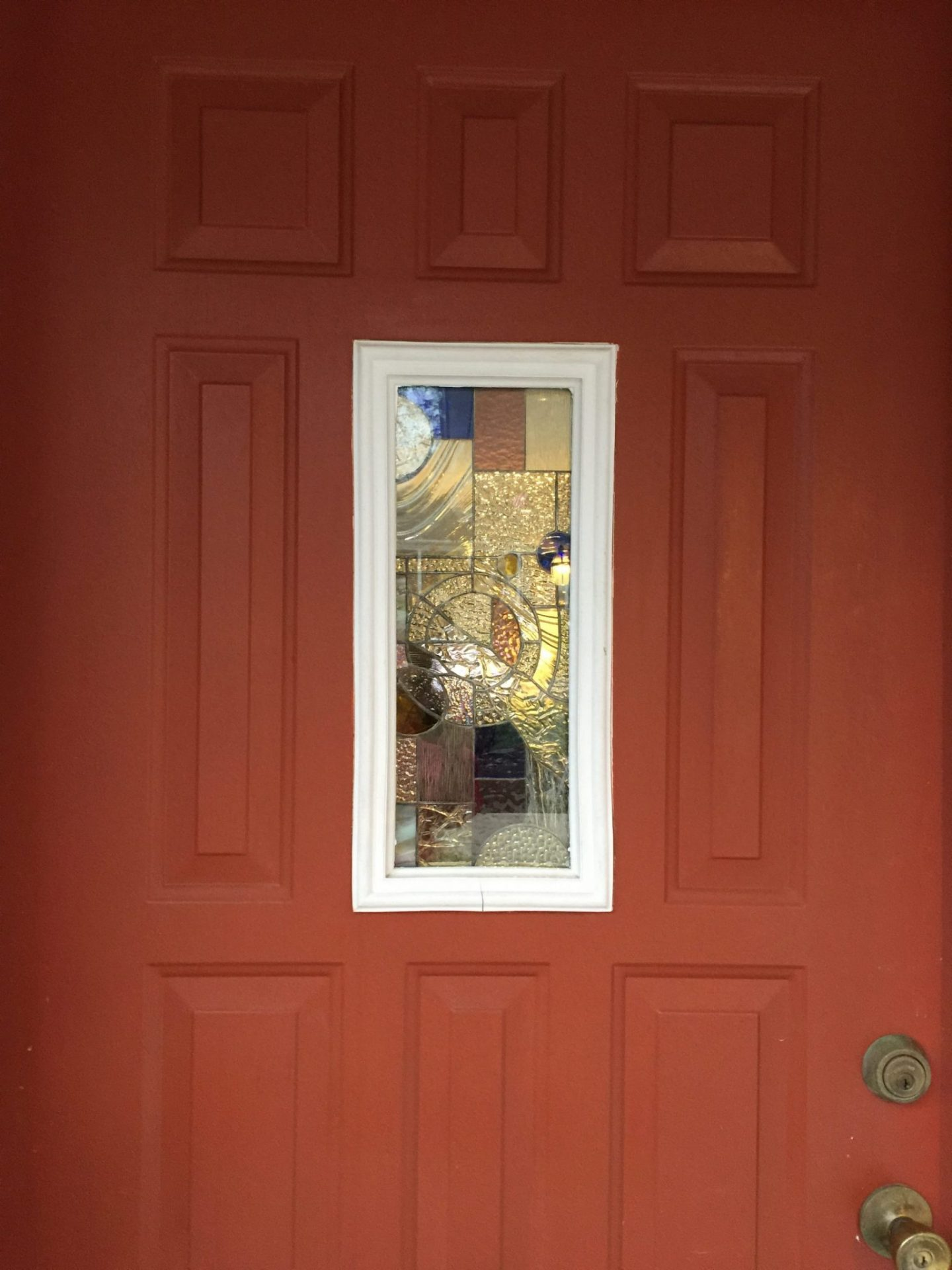 Stained Glass Insulated Unit Put In A Front