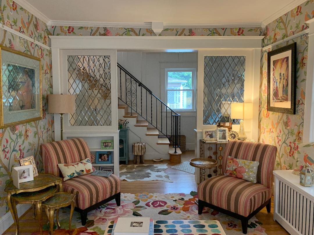 All Beveled Diamonds Leaded Glass Interior Partitions