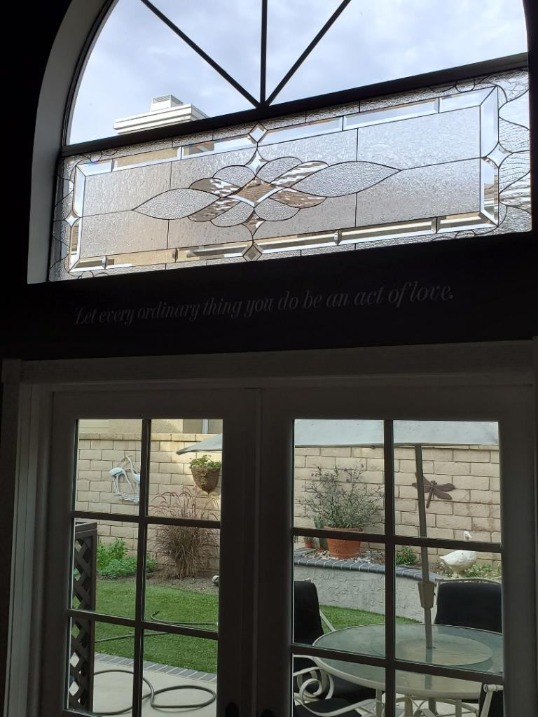 Vallejo Style Stained Glass Window Installed In Carson California As An Accent Window In A Living Room