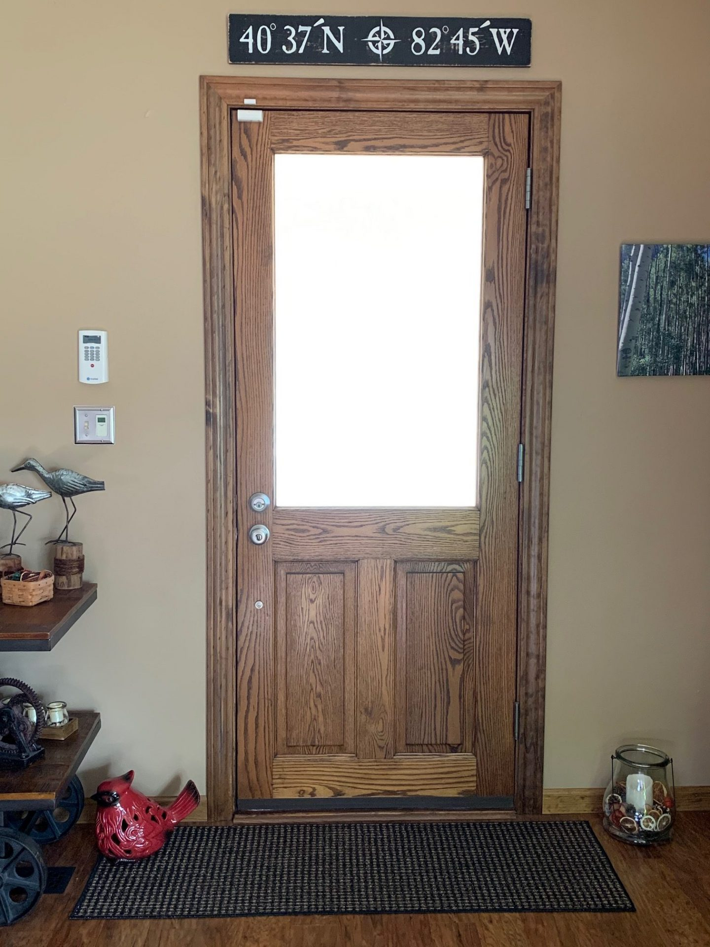 Client had a large clear dual pane window in her door, but it was a bit cloudy.