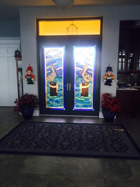 Minimal install Glass Door Inserts installed