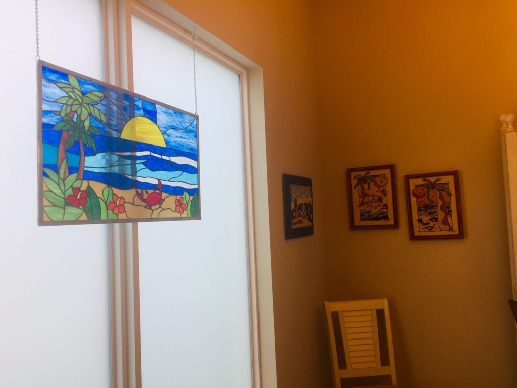 Stained Glass Window Panel Hang