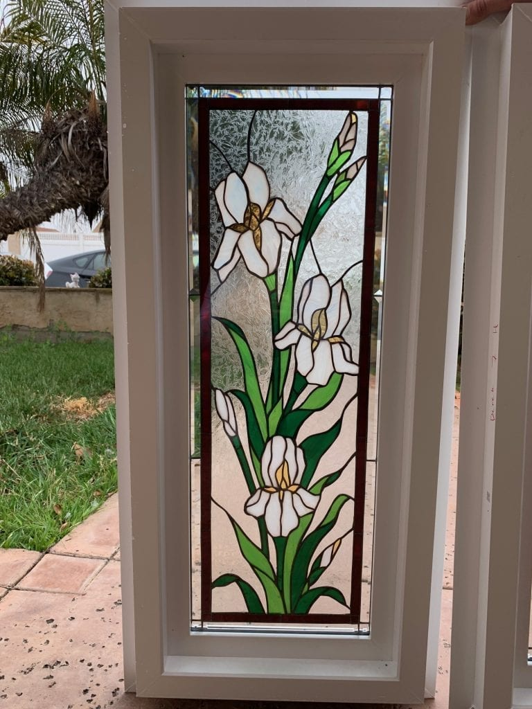 Stained Glass Windows installed in a new Kitchen