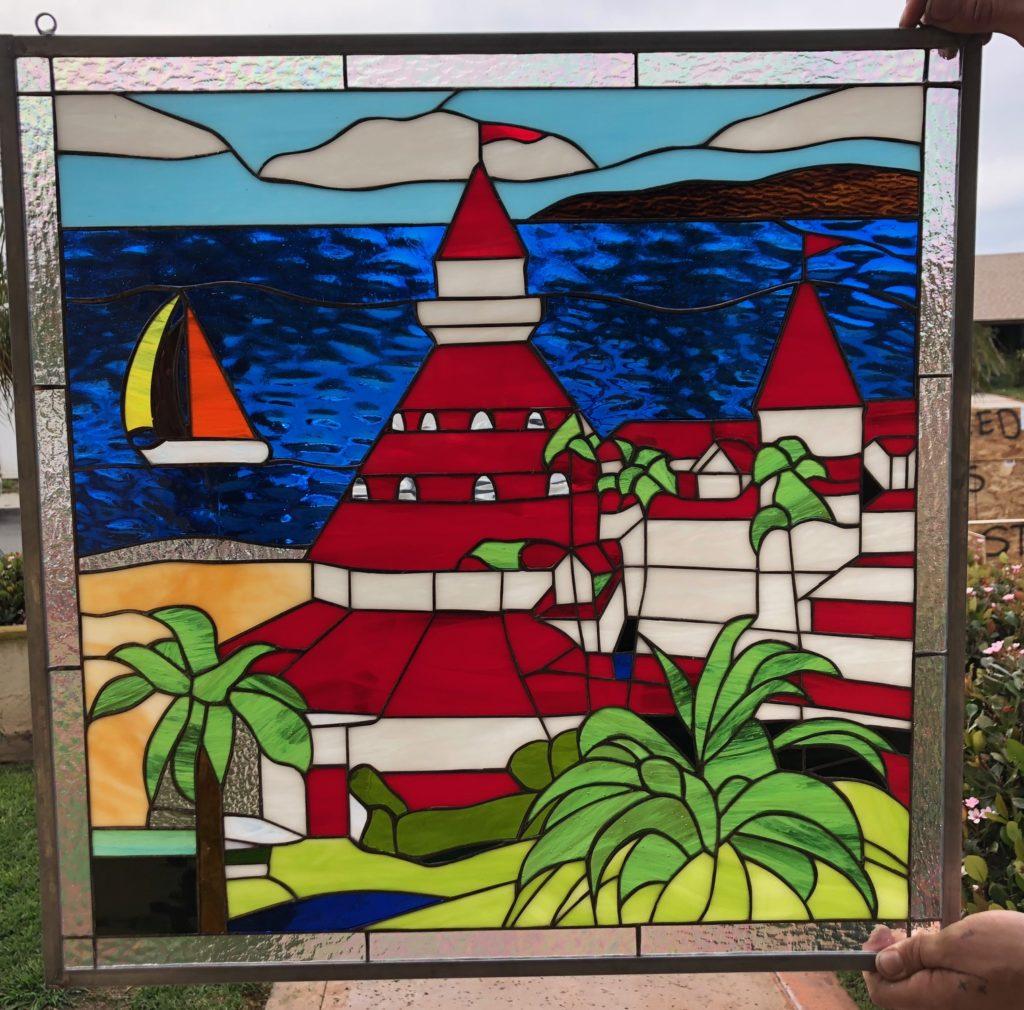 Beautiful! Hotel Del Coronado Stained Glass Window