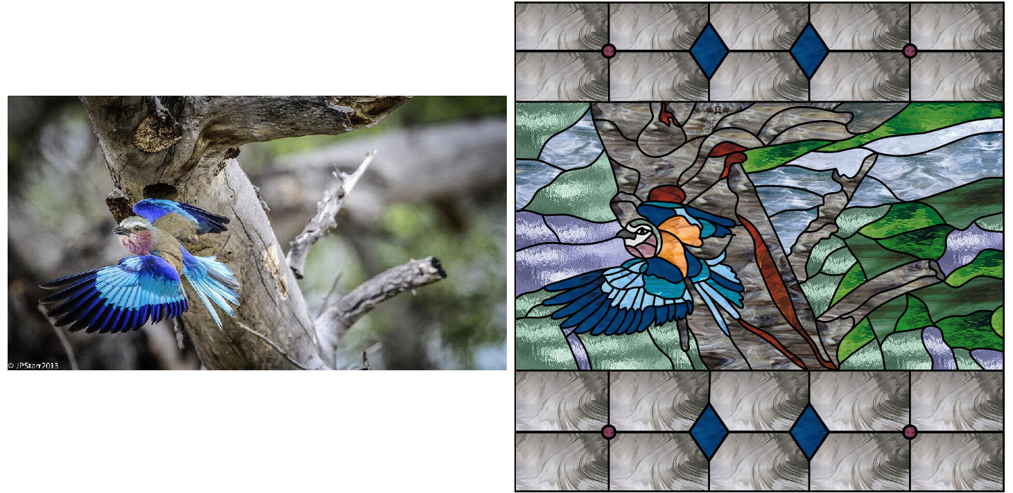 Photo into a stained glass