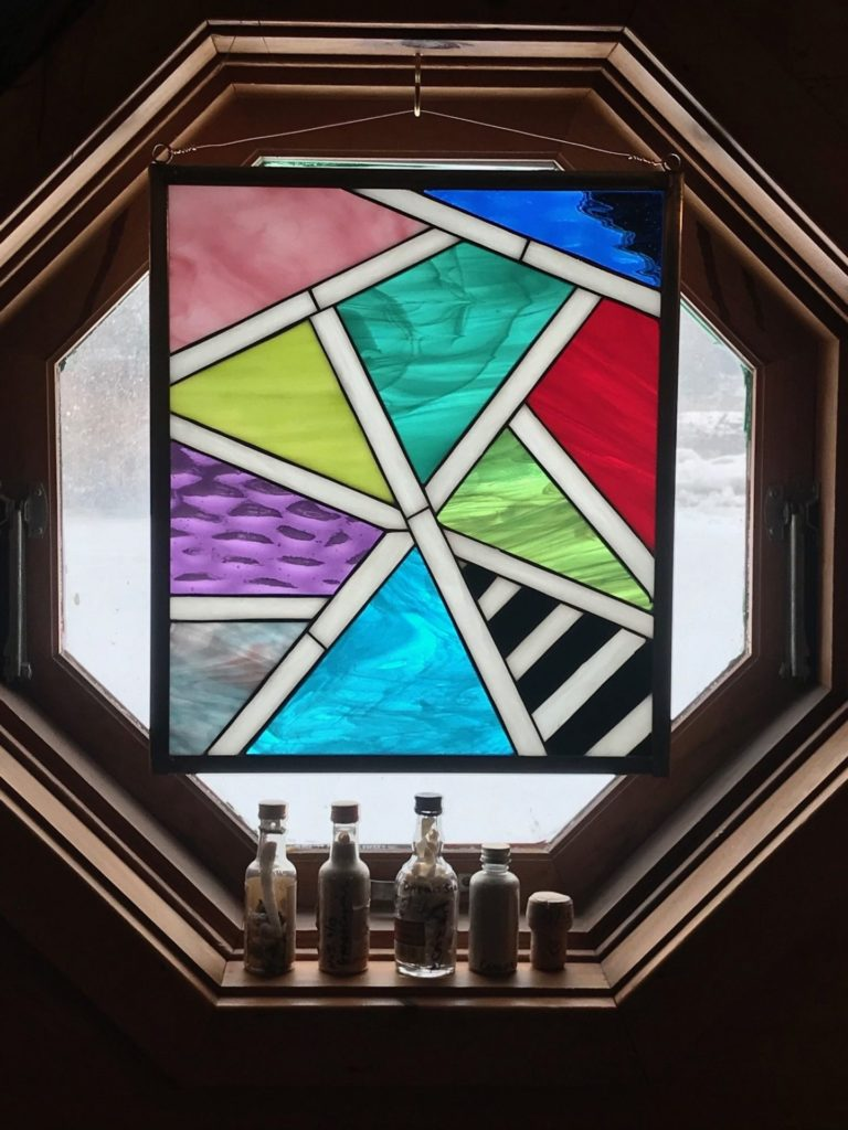 Clients painting duplicated into Stained Glass