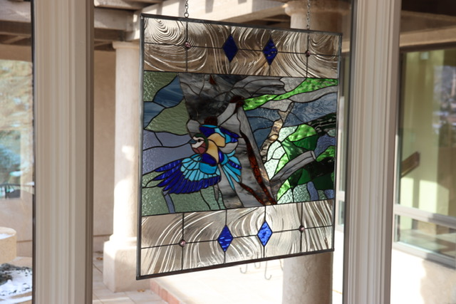 We have turned a Photo into a stained glass for a Gift