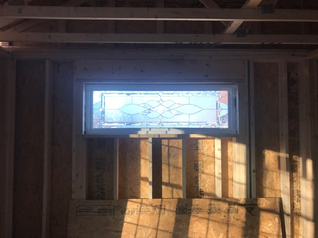 Stained Glass Windows installed for new construction