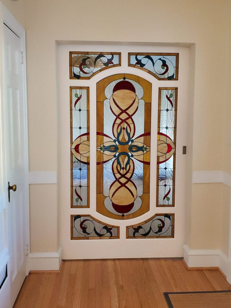 We have turned a Draw into a Stained Glass for a for a large Barnwood door.