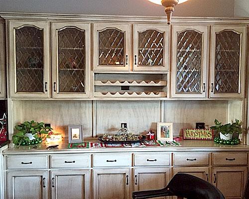 kitchen tudor style inserts