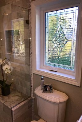 stained-glass bathroom windows