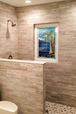 Stained-Glass Shower Area