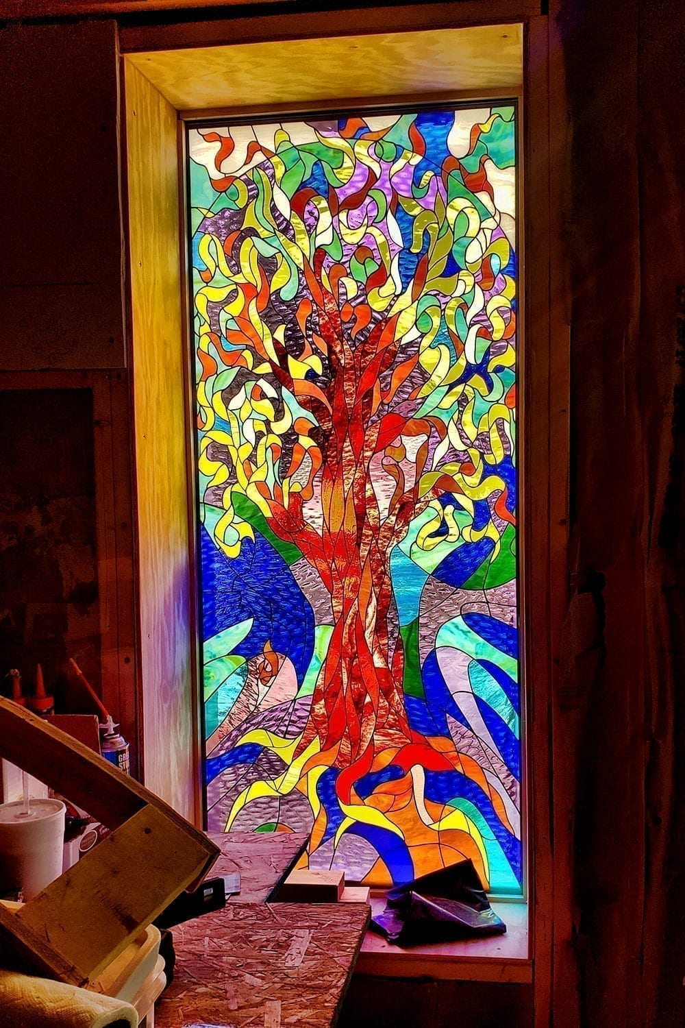 Awesome! Tree Stained Glass Window