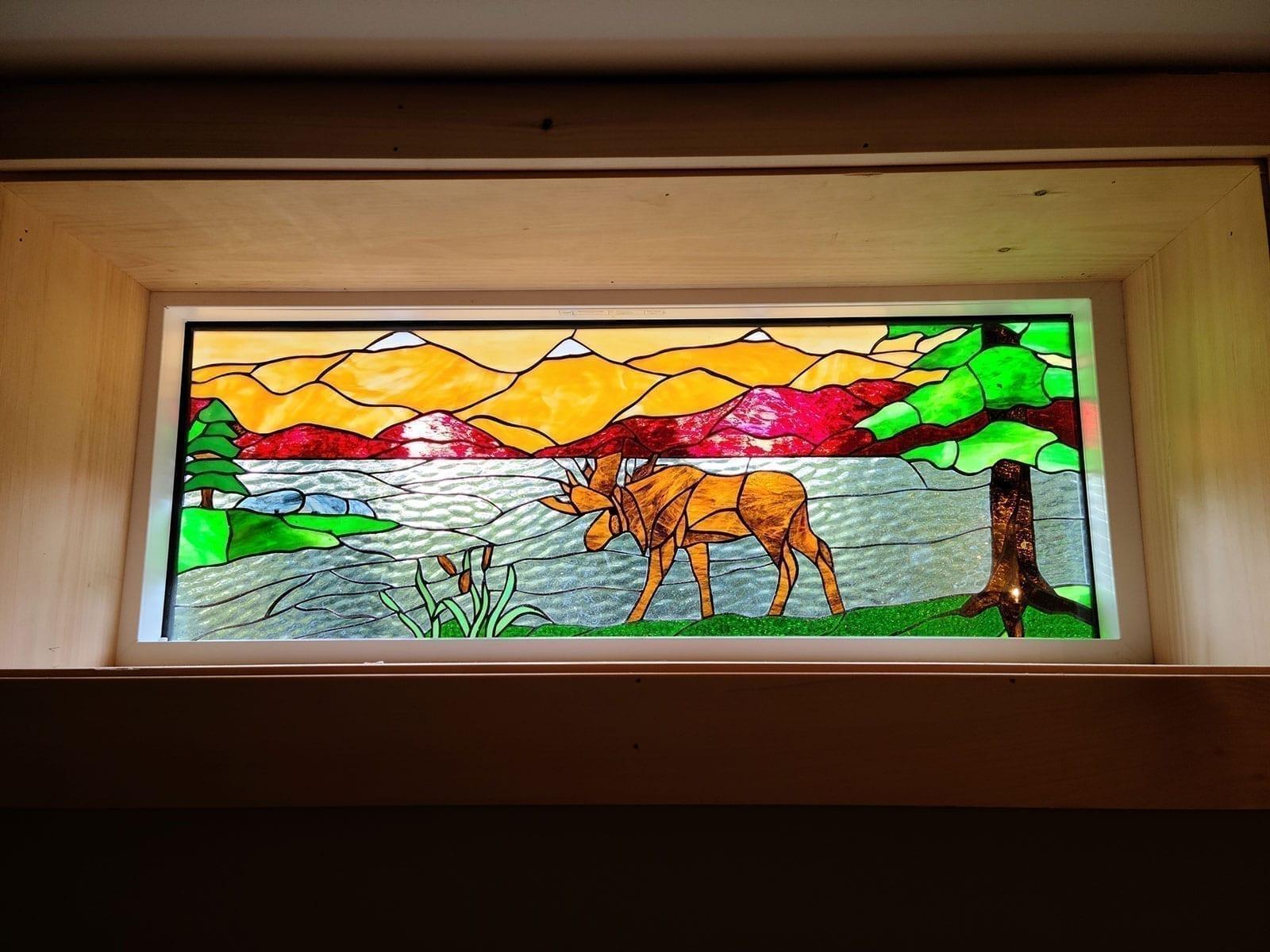 Deer Mountain Lodge Stained Glass Window