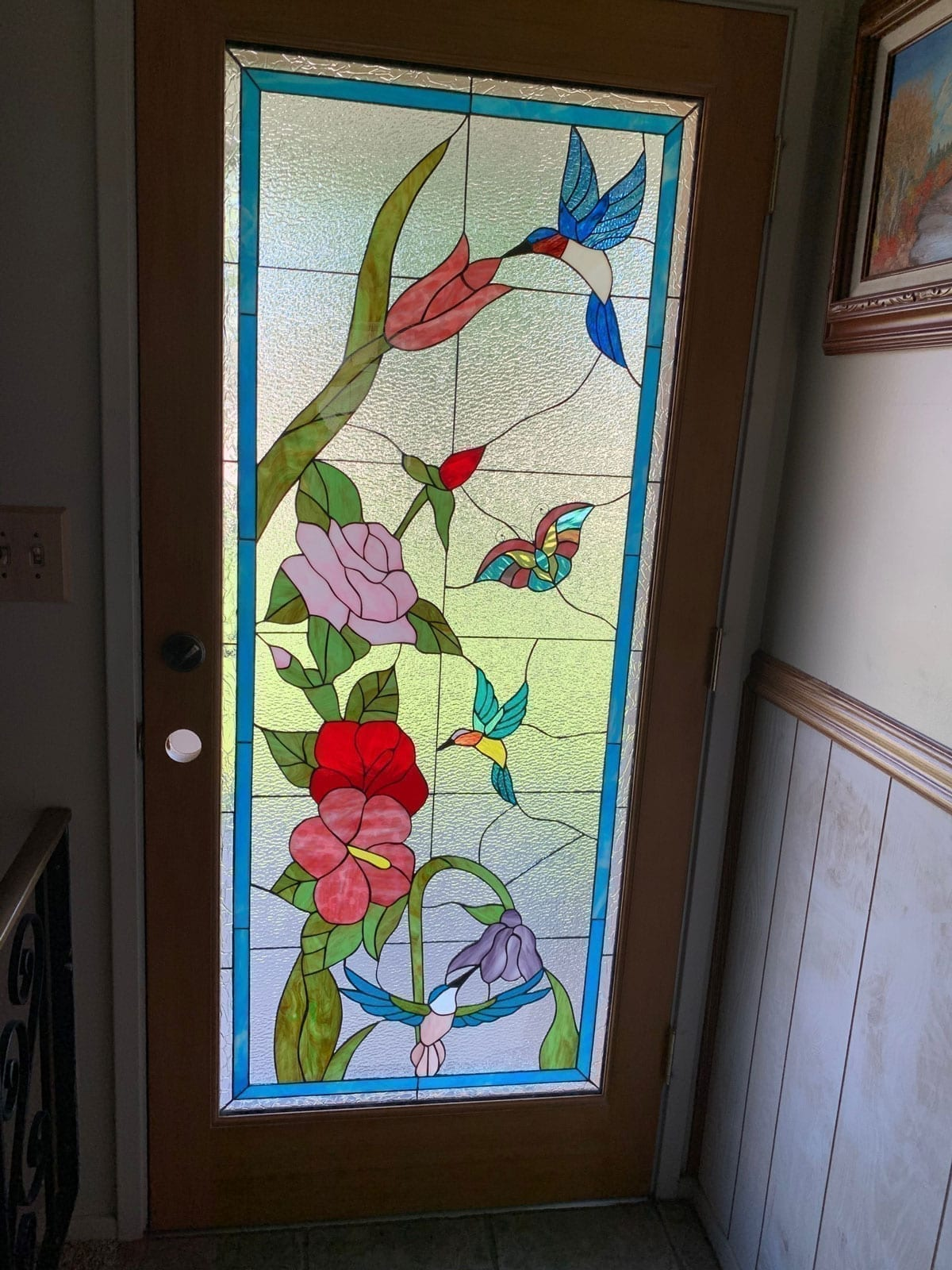 Stained Glass Door installed in Roy City, UT
