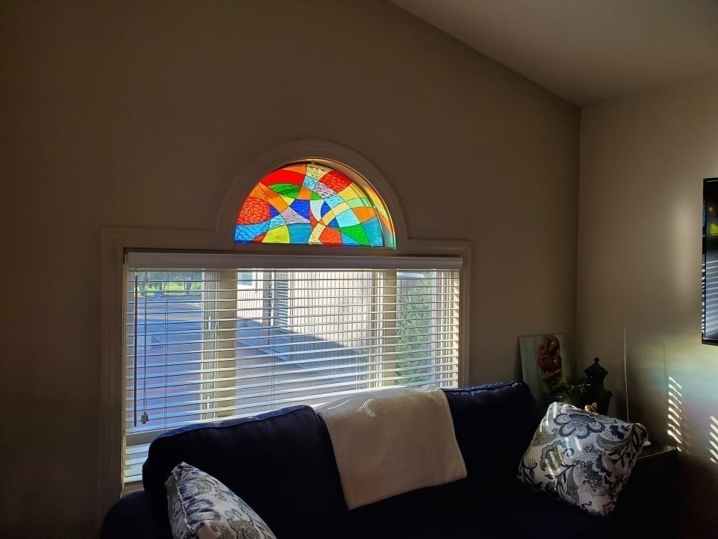 Colorful Stained Glass Transom Window