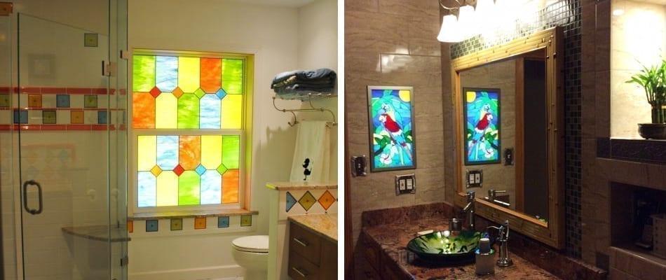 Alternative to bathroom curtains