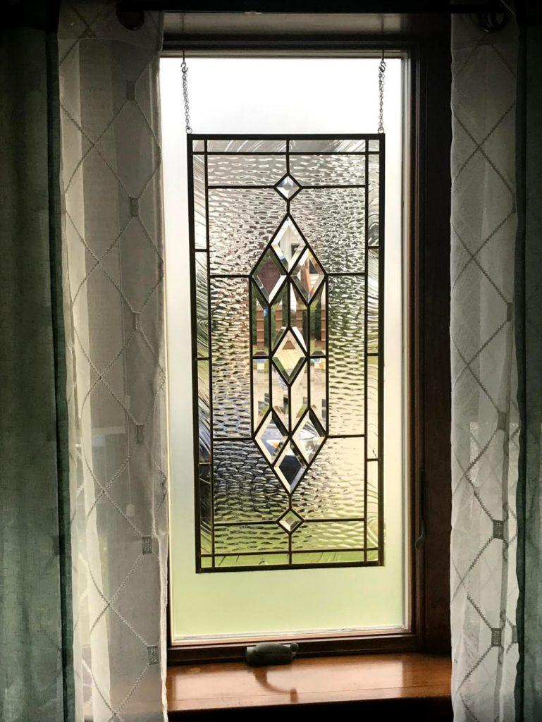Beveled Stained Glass Window minimal installation