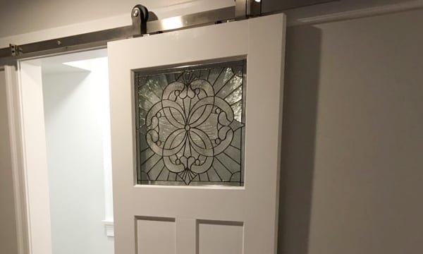 Stained Glass Bathroom Doors