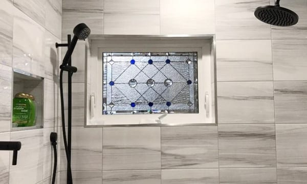 Shower Stained Glass