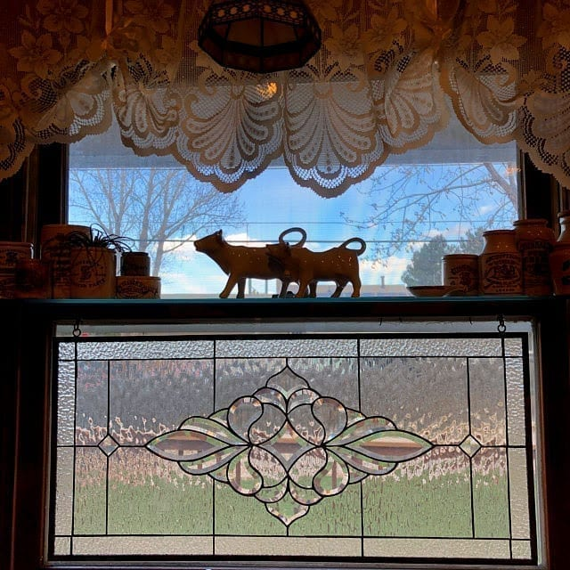 """The """"Danville"""" Stained Glass Window minimal installation"""