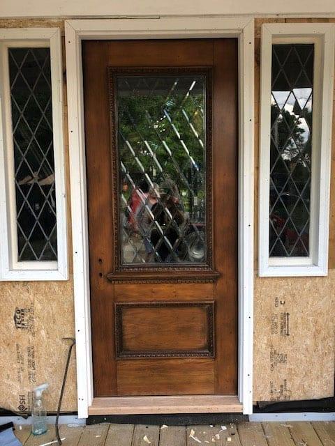 Window installed into a door