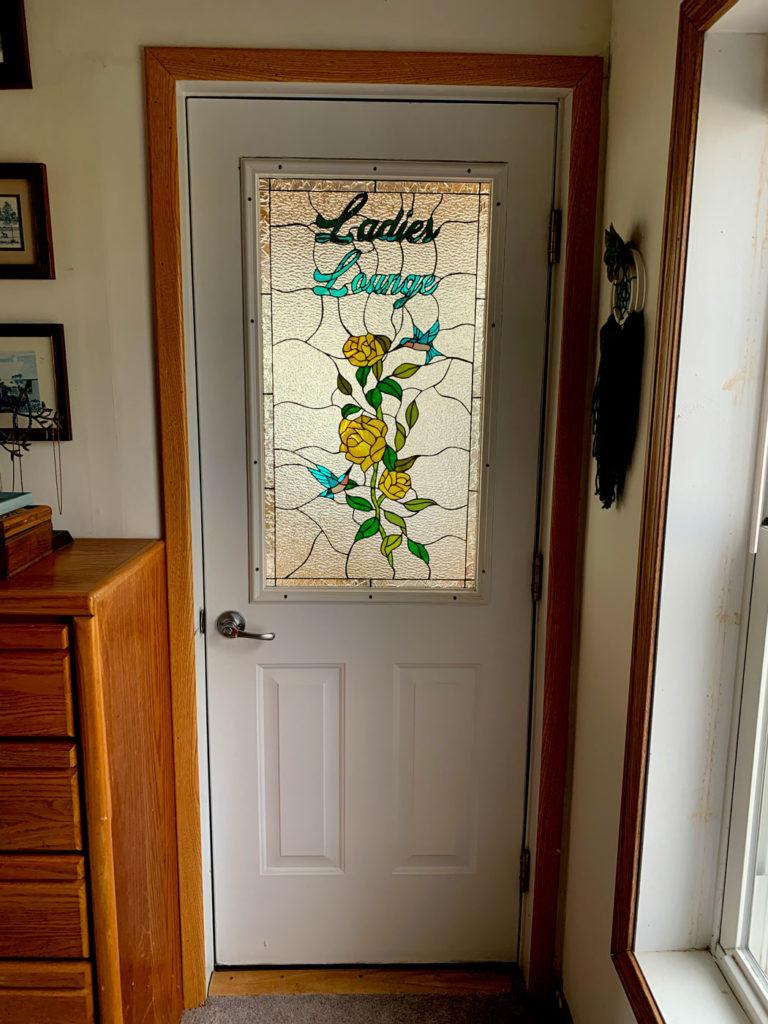 Flowers and Hummingbirds Glass Door Inserts
