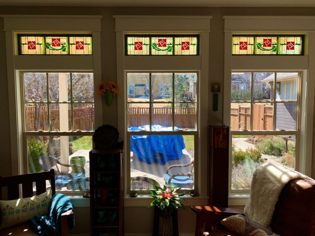 Before and After Stained Glass Transom Windows
