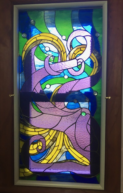 Octopus Stained Glasss Window minimal install