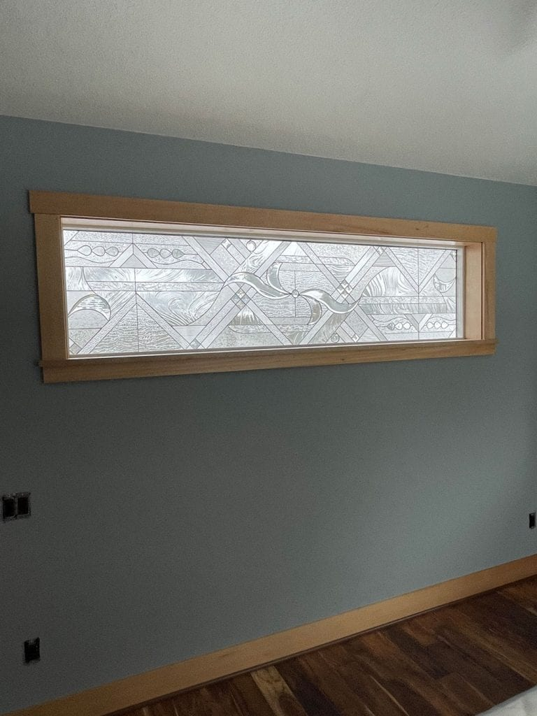 Stained Glass Window with vinyl frame