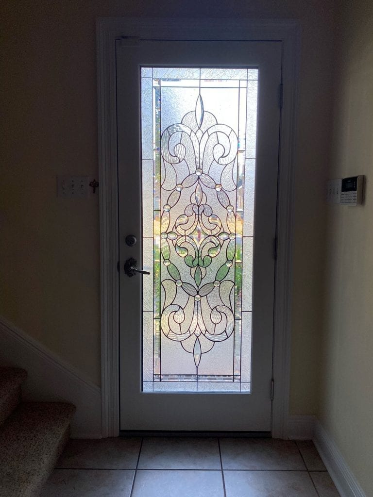Beautiful Clear & Beveled Stained Glass Door Inserts