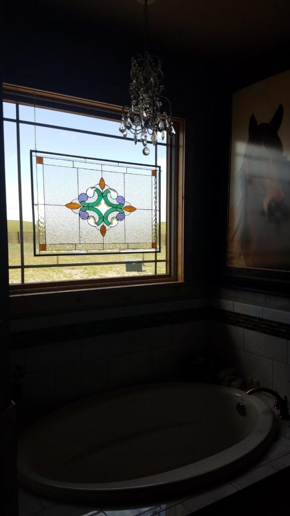 Beautiful! Stained Glass Hung with Hooks and Chains