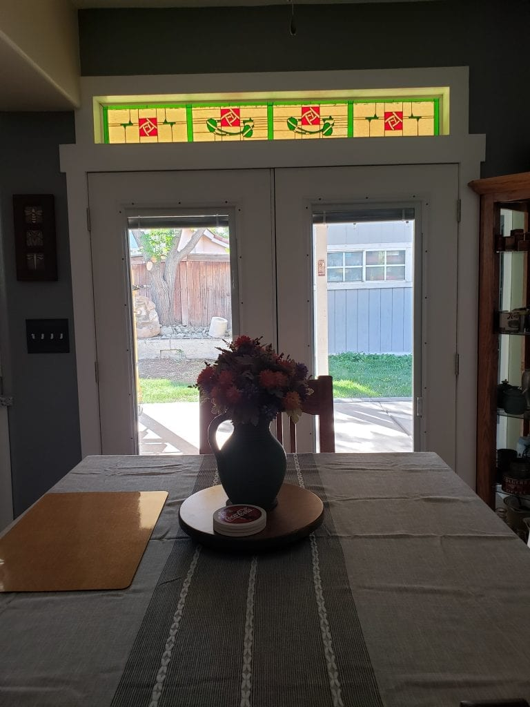 minimal install, stained glass craftsman style
