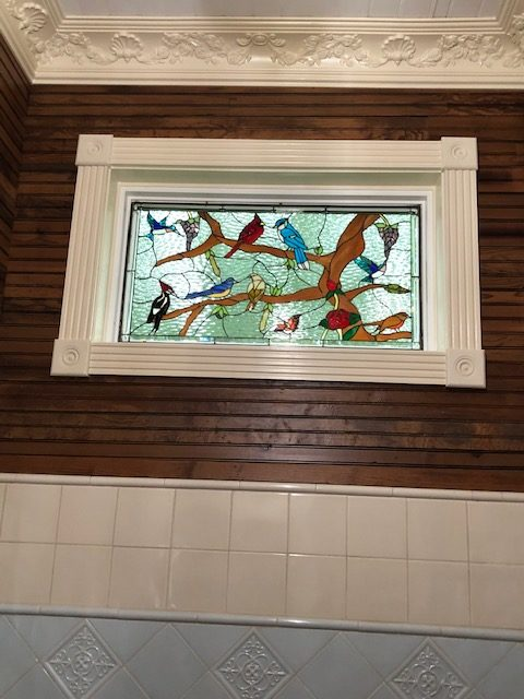 Beautiful Birds, Butterflies, And Roses Stained Glass Window